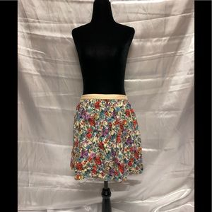 Topshop Petite floral  skirt with pockets